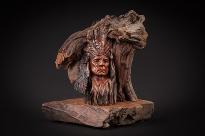 Twisted Rock-Manzanita on Mesquite Base-10x9x8 inches-$975.00