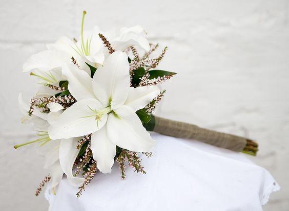 Ramo de novia con liliums