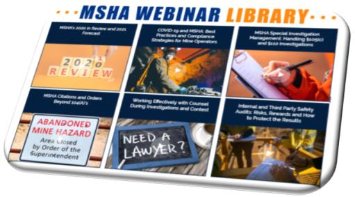 MSHA Webinar Library