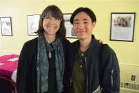 "Kathleen Harte Gilsenan with David Koh, returning scholarship winner. His short film ""Molly and the Moon"" was screened at the event."