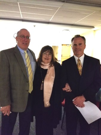 Dr Miron, MHS Principal, Laraine Barach, AAC Chair, and Dr Keating