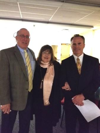 Dr Miron, MHS Principal, Laraine Barach, AAC Chair, and Dr Keating