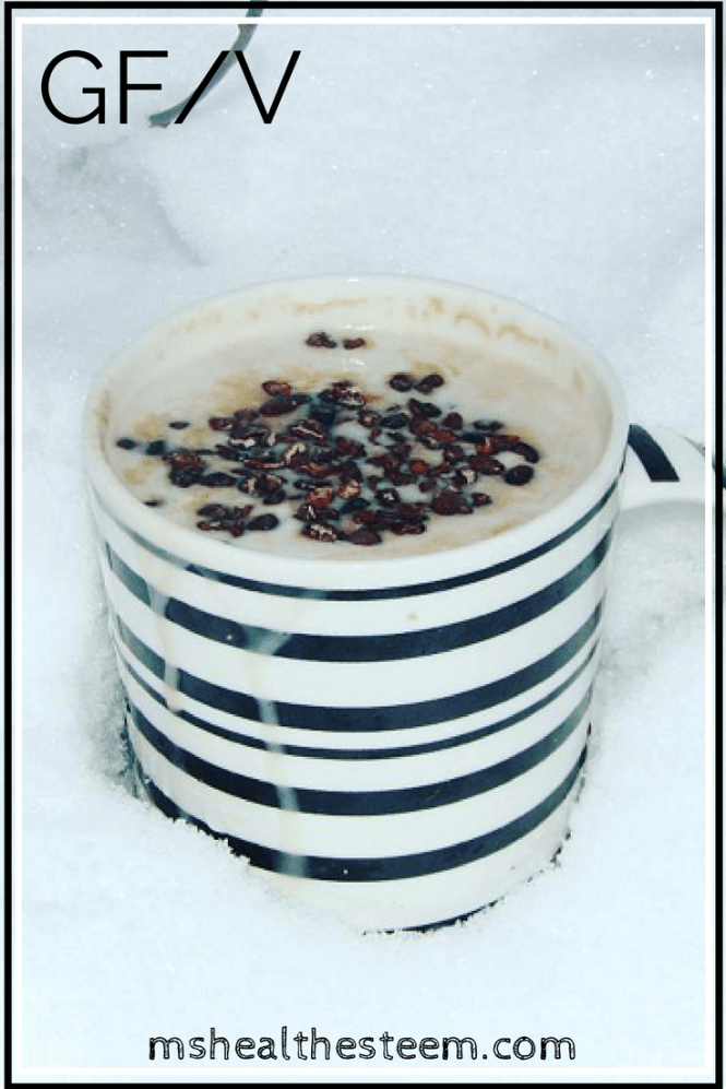 This awesome Hot Chocolate with Maple Whipped Cream is the perfect winter delight - Dairy Free, Gluten Free, Vegan. A delicious, warming, healthy dessert