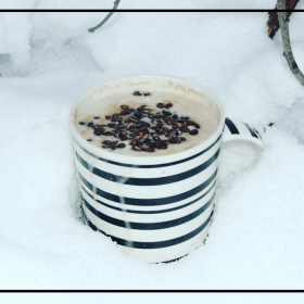 This awesome Hot Chocolate with Maple Whipped Cream is the perfect winter delight - Dairy Free, Gluten Free, Vegan. A delicious, Warming Treat