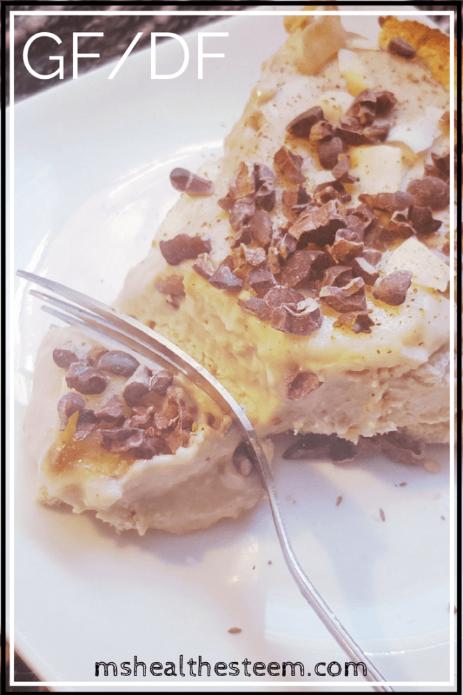 Peanut Butter Ice Cream Pie - Delicious, easy, healthy dessert. Vegetarian, Dairy Free, Gluten Free