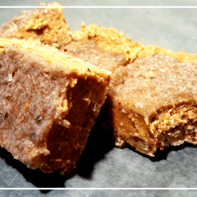 These Raw Almond Butter Squares with Banana Frosting are a healthy, simple, high energy dessert. Vegan, Gluten Free, Dairy Free.