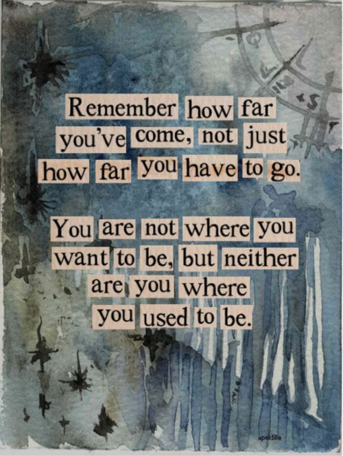Remember How Far You've Come - Inspirational Quote, Monday Inspiration Board
