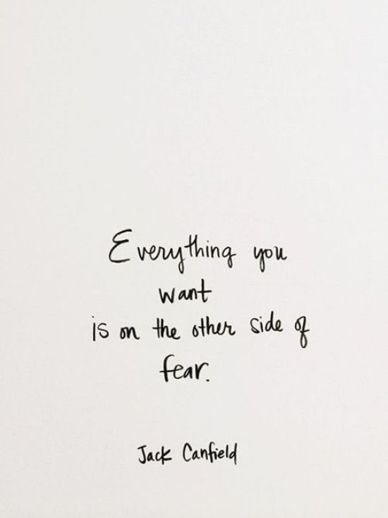 Inspiration Board - Inspirational Quotes - Everything you want is on the other side of fear.