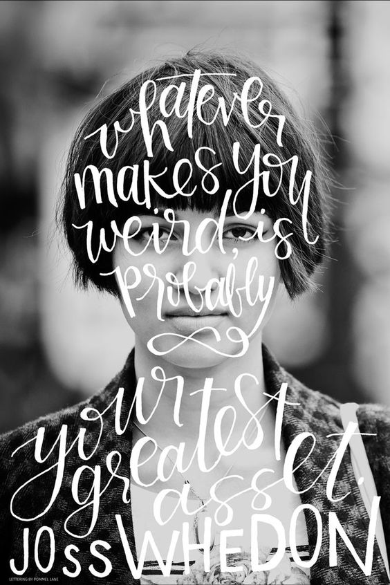 Your Monday Inspiration Board - Inspirational Quote, self love, motivation, self care, health - Whatever makes you weird is probably your greatest asset