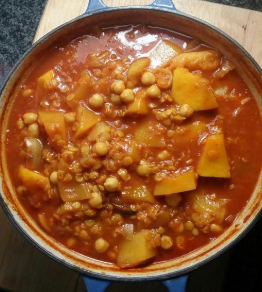 Chickpea and Lentil Casserole By Jo's Food Bites - Easy Gluten Free, Vegan, Healthy Meal