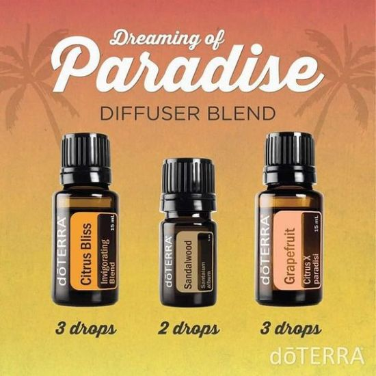 Inspiration Board - Dreaming of Paradise doTERRA Essential Oil Diffuser Blend