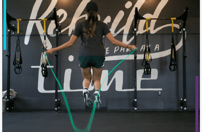 Why you totally need to try a jump rope workout | The super easy, fun exercise that supports your heart health, helps with bone density, increases your balance, coordination and flexibility and so much more. Includes a free self care planner! Woohoo! Click through for the post.