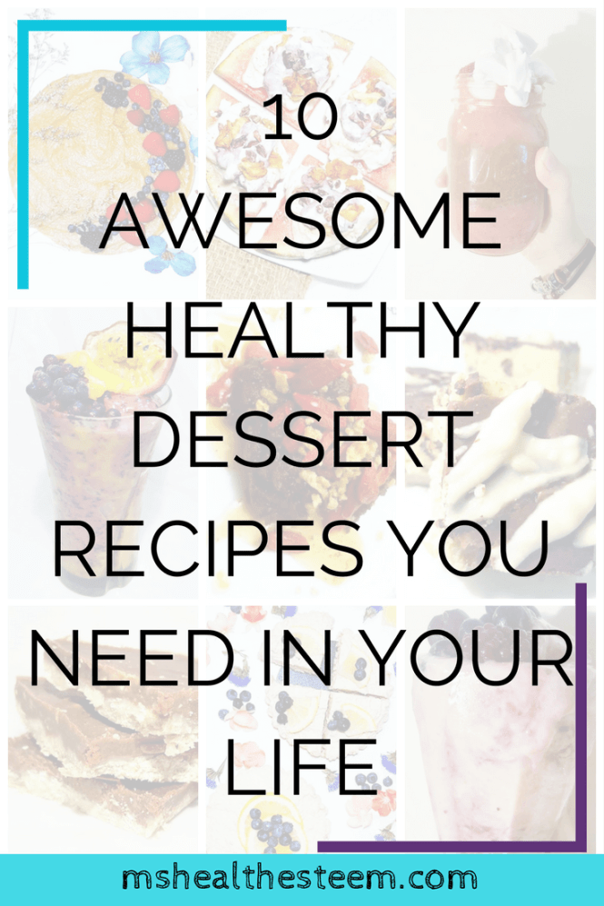10 Awesome Healthy Dessert Recipes You Need In Your Life | A Free E-Book - 'The Health-Esteem Sweet Tooth'. Fill up on delicious, vegan, gluten free, refined sugar free desserts full of nutritious ingredients. Click through for the post and a link to your free copy! #healthydessert #vegan #glutenfree #refinedsugarfree #healthyrecipes