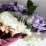 You'll Want to Relax for Hours in this DIY Nourishing Coconut Milk Bath | This simple healthy beauty recipe is a fantastic form of skin care and self care. Soak in the tub while this awesome mixture helps to soothe, moisturize and soften your skin. Vegan, gluten free, dairy free and super simple to make. Click through for the recipe. #skincare #healthybeauty #healthyskin #selfcare #selflove