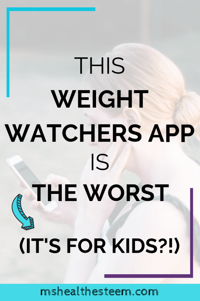 0This Weight Watchers App Is The Worst (It's For Kids?!) title card. In the background a teen can be seen staring at her phone.