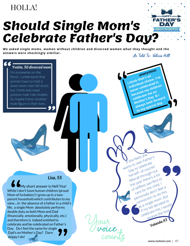 Should single moms celebrate father's day?