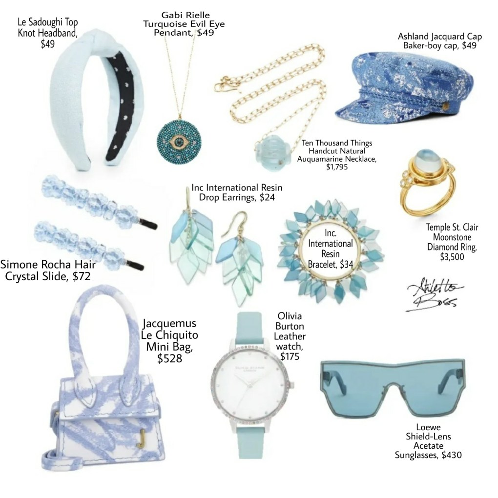 Blue accessories for summer 2020
