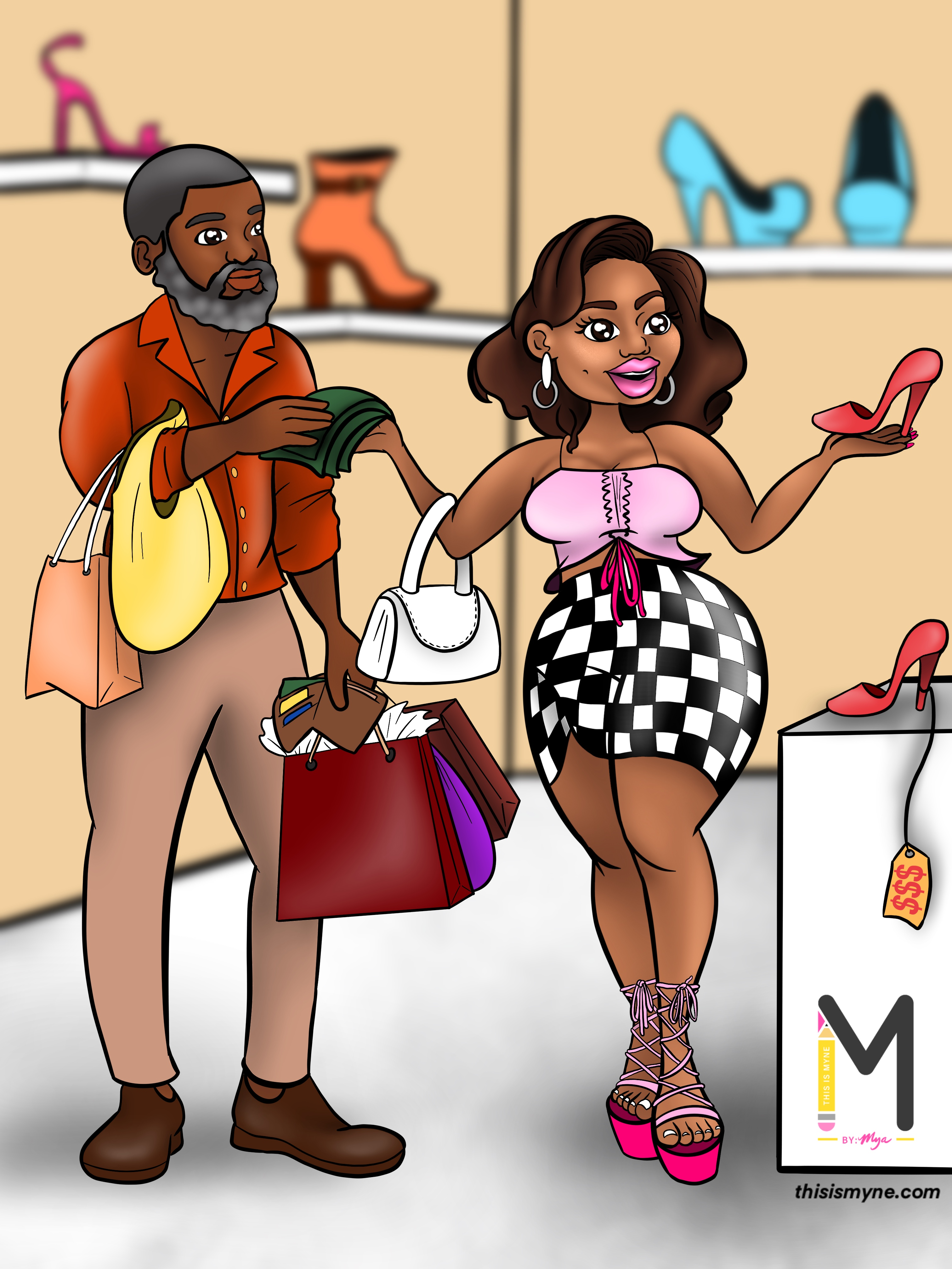 How to get a guy to take you shopping.