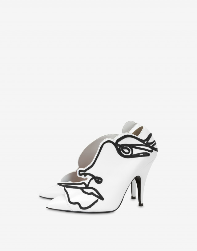 Moschino Woman's Drawing Pump