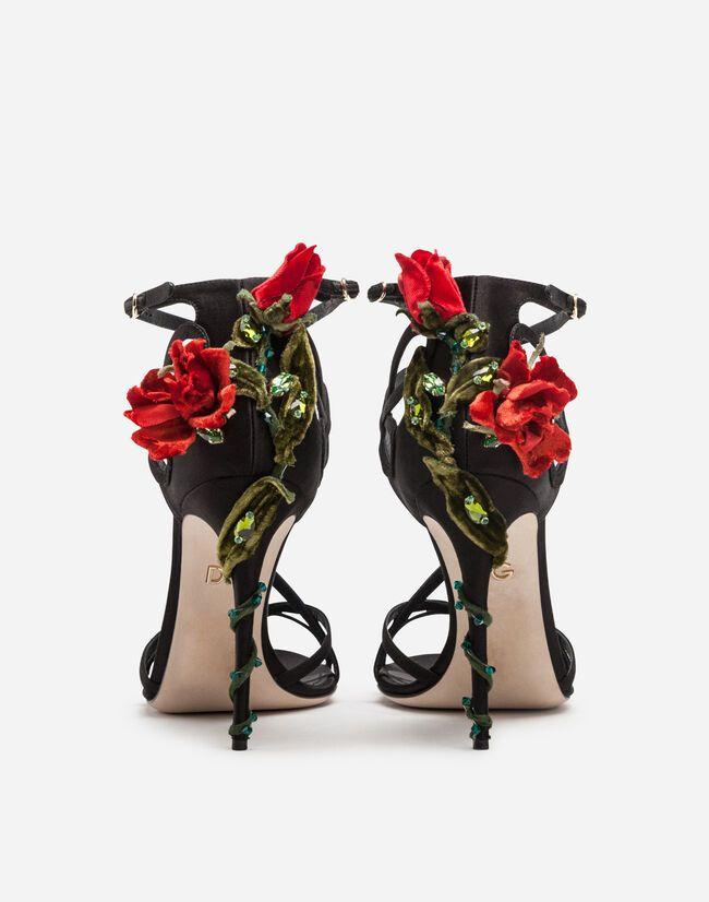 Dolce & Gabbana Satin Embroidery heel
