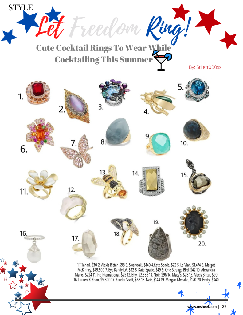 Your guide to the cutest cocktail rings