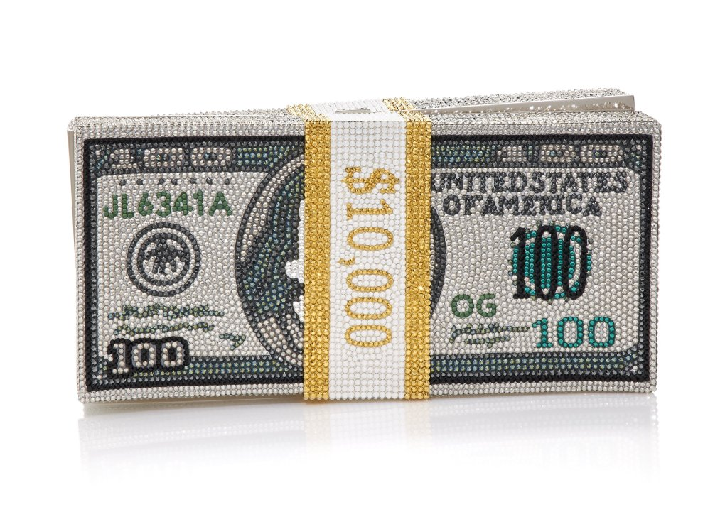 Judith Leiber STACK OF CASH RICH