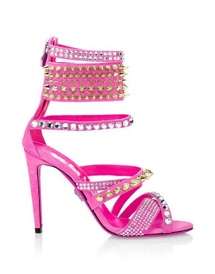 Pink Phillip Plein studded sexy sandal