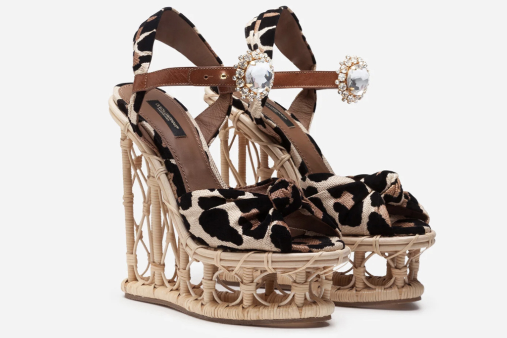 Dolce & Gabbana wicker wedge