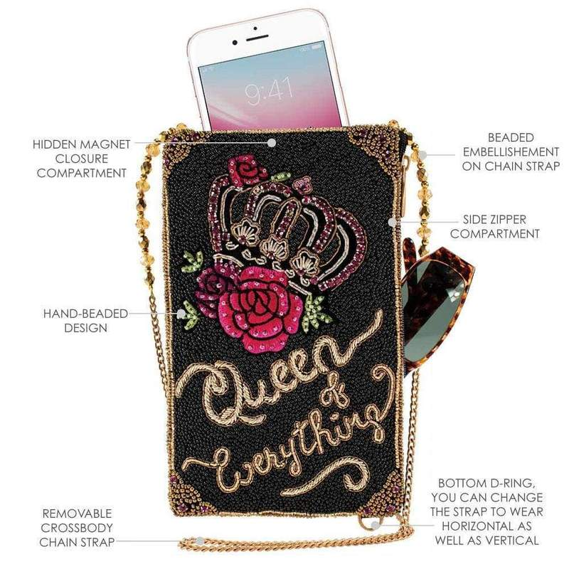 Mary Frances Queen of Evrything Phone bag