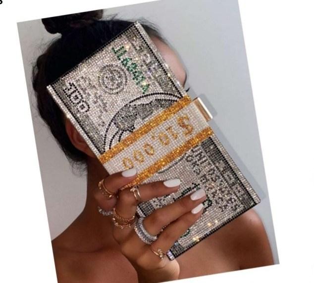 Crystal $tacks Clutch