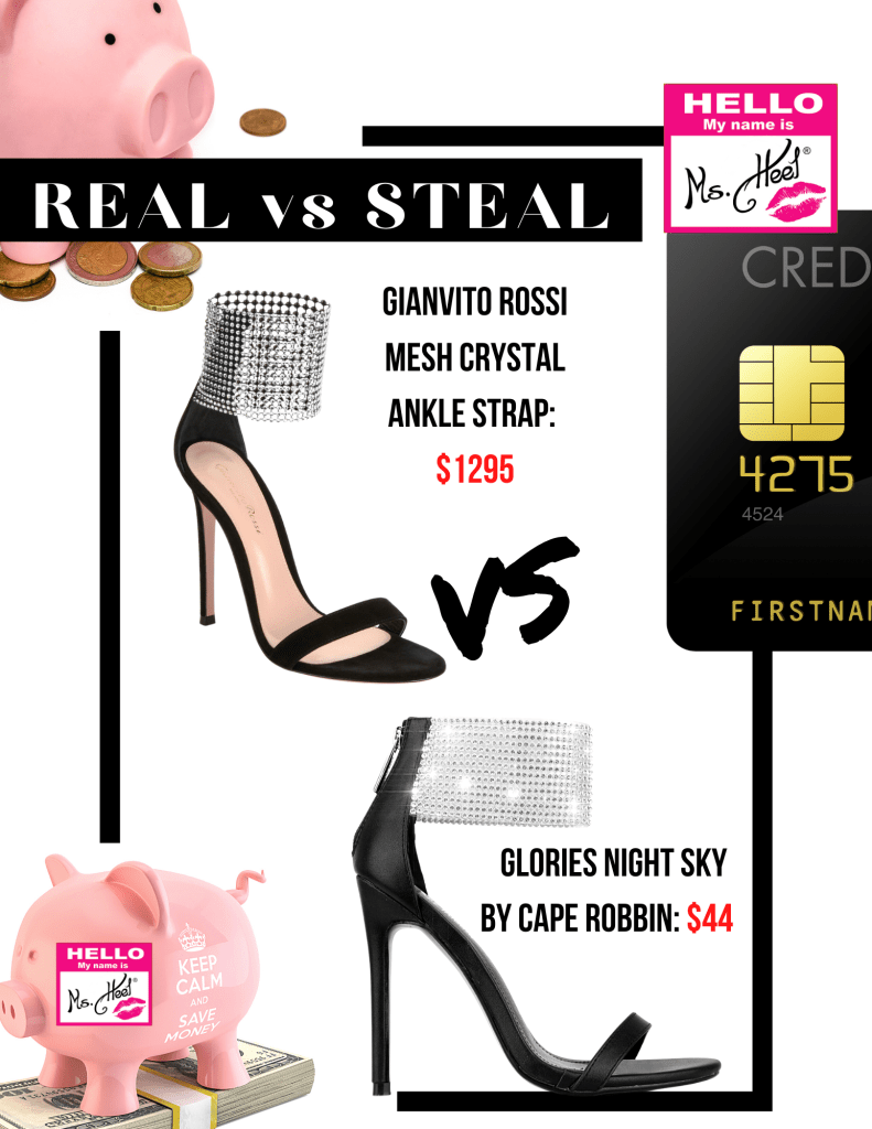 Real vs Steal. Comparing designer heels to a designer look-a-like.