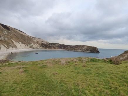 Lulworth Cove - blue despite the grey clouds