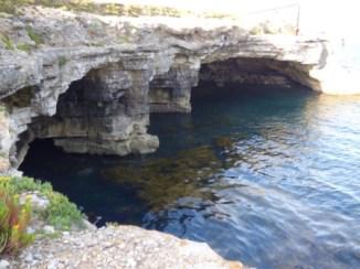 Undercutting of the cliffs