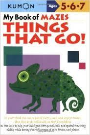 KUMON_5-6-7_years_My Book of Mazes -Things That Go