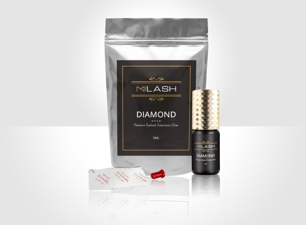 MLASH DIAMOND EYELASH EXTENSION GLUE 3D REALISTIC MOCKUP-1B