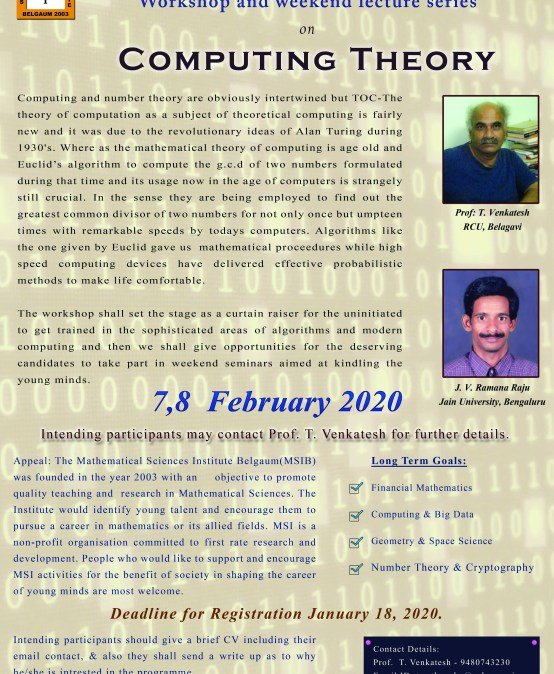 Workshop on Computing Theory