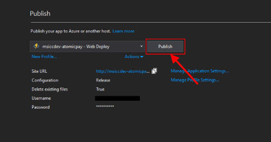 Publish to Azure Step 3