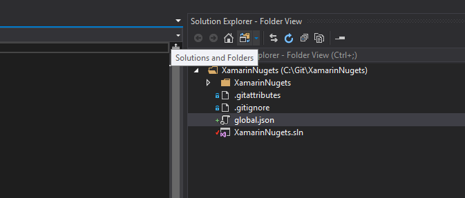 switch to folder view