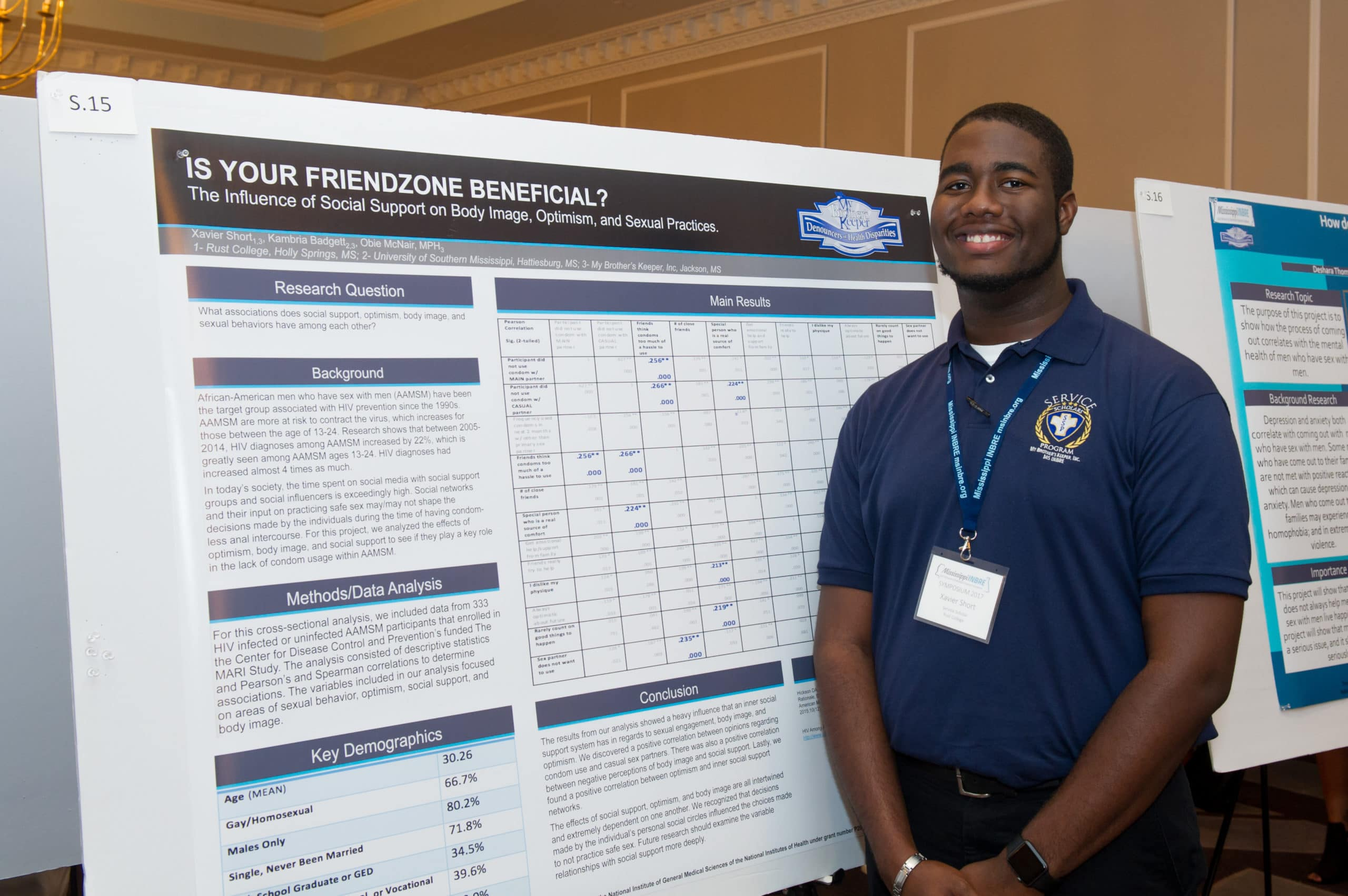 Rust College Student, Xavier Short learned how to be an asset to his community through the Service Scholars Program