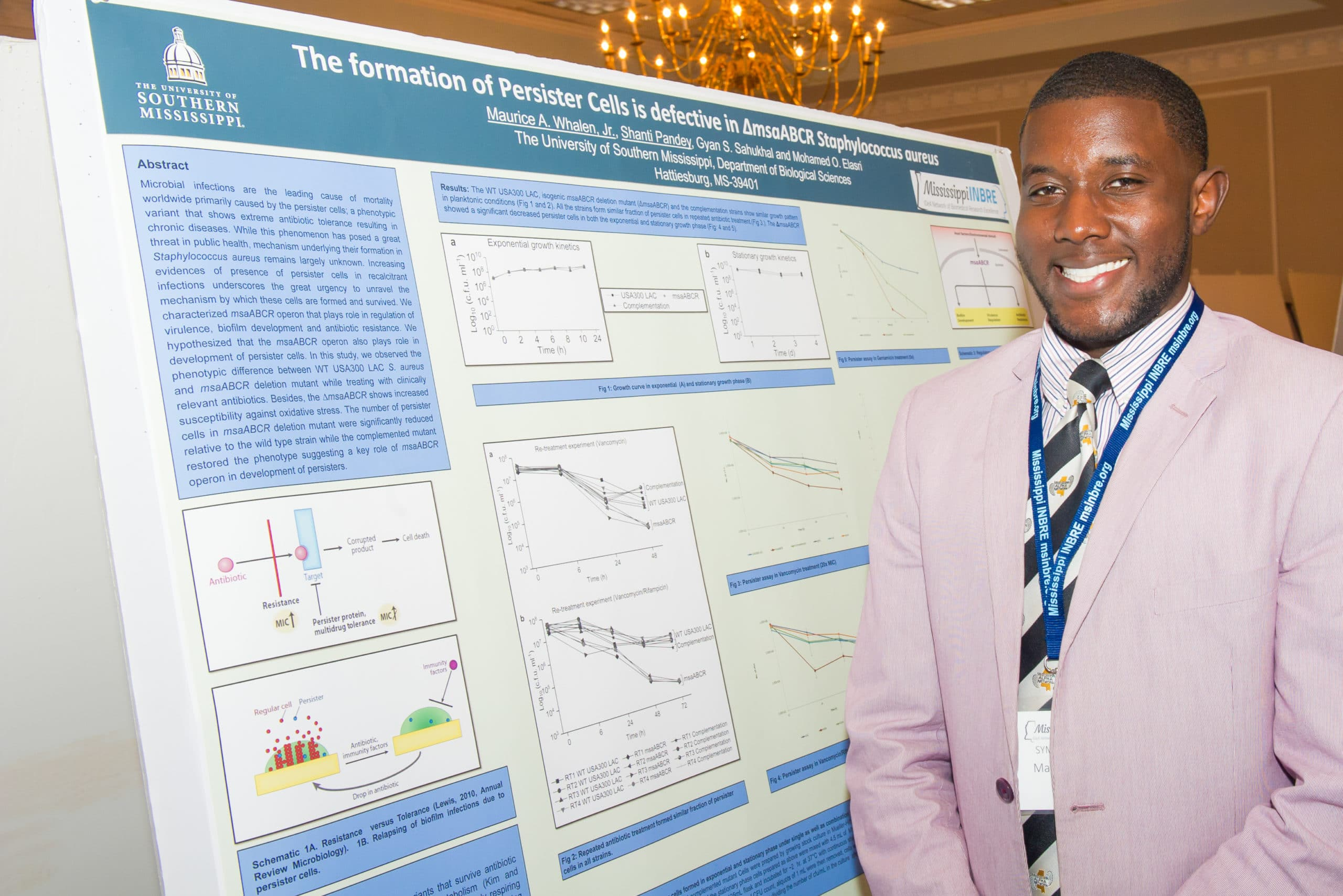 Catching up with 2017 Mississippi INBRE Research Scholar, Maurice Whalen