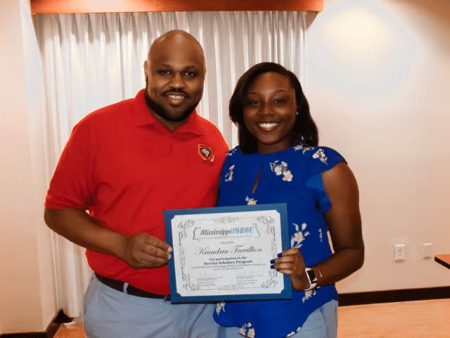 Catching up with 2018 Mississippi INBRE Service Scholar, Kiandria Trevillion