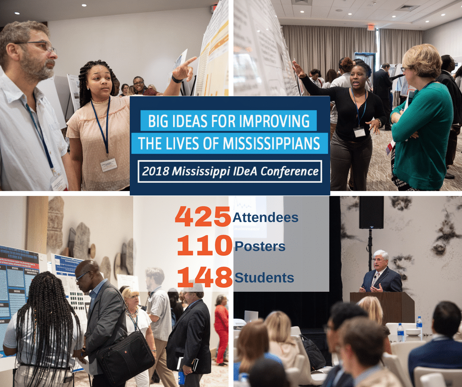 Big IDEAs for Improving the Lives of Mississippians, 2018 Mississippi IDeA Conference Showcases More than 130 Research Presentations