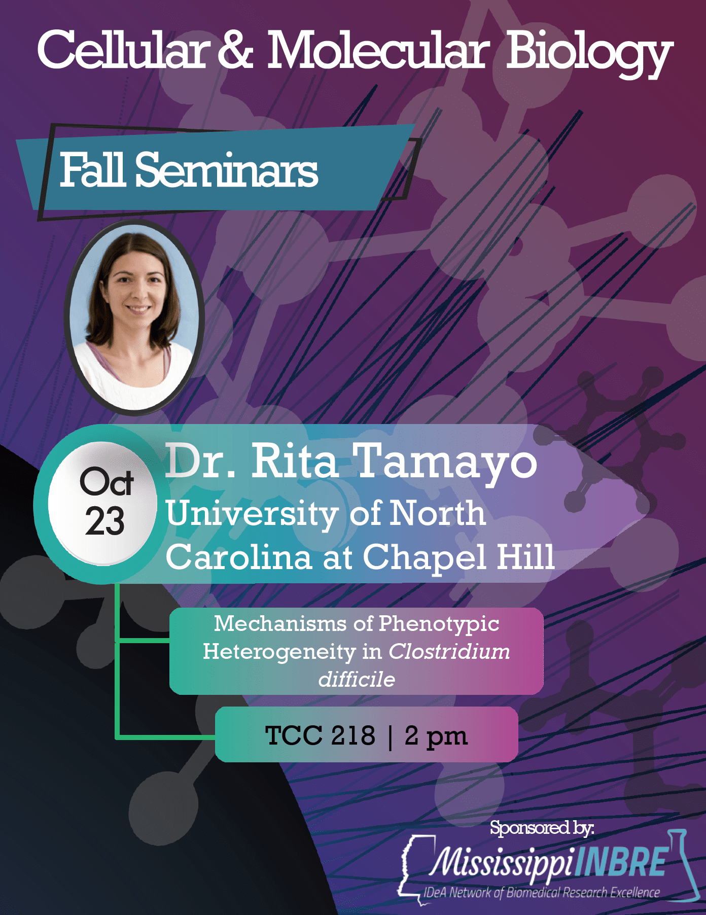 Dr. Rita Tamayo visits USM for CMB Seminar Series
