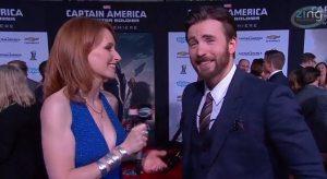 Krinsky Captain America premiere