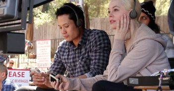 "Rose McGowan on the set of ""Dawn"""