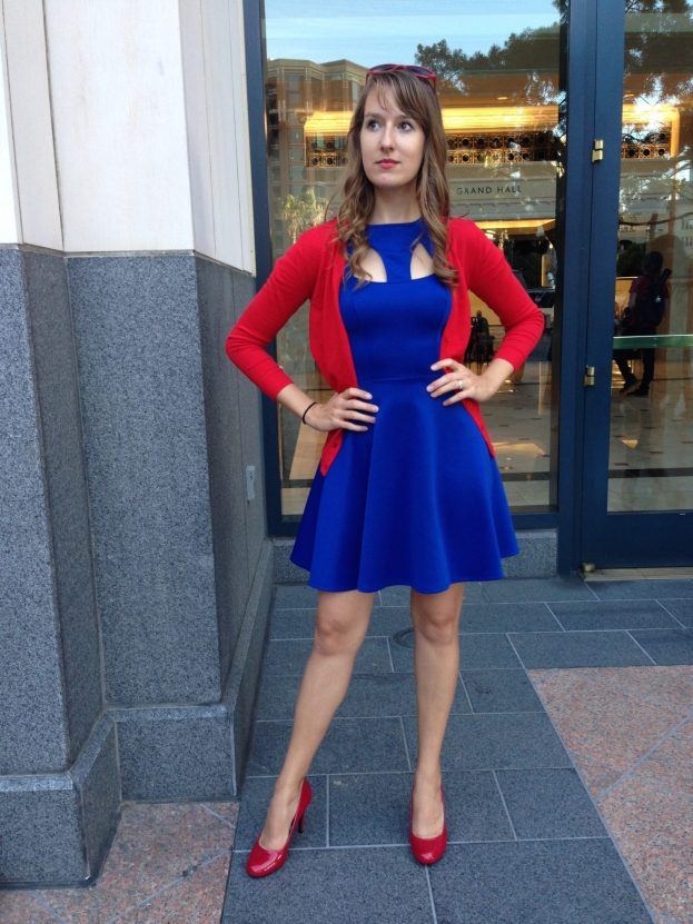 Me, in my Supergirl inspired ensemble
