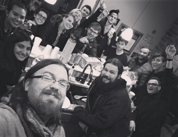 crew & interns at lunch, #JBU, Director Marc Hampson's IG @Demzpencils Instagram