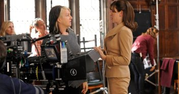 Rosemary directing on the set of The Good Wife