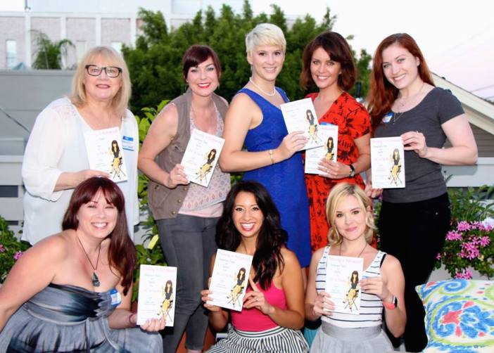 "(With some of the writers from Ms. In The Biz who were included in our book ""Thriving in Hollywood!"""