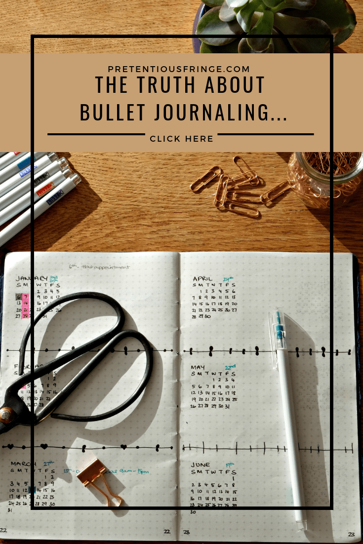 the truth about bullet journaling pinterest image